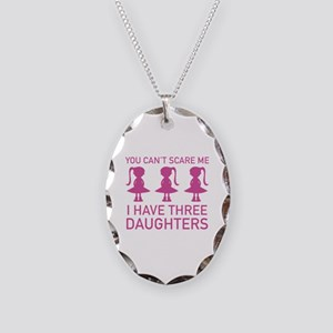 I Have Three Daughters Necklace Oval Charm