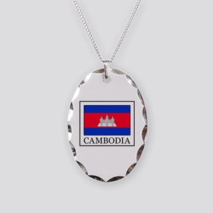 Cambodia Necklace Oval Charm
