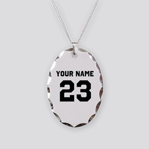 Customize sports jersey number Necklace Oval Charm