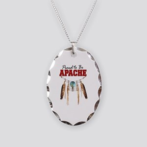 Proud to be Apache Necklace Oval Charm