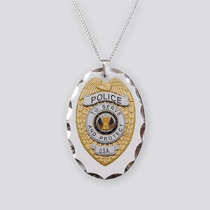 badge1 Necklace Oval Charm