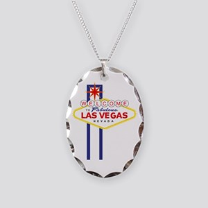 Welcome to Las Vegas Necklace Oval Charm