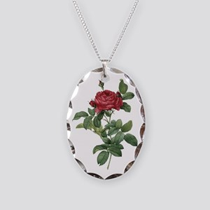 Rosa Gallica Pontiana Necklace Oval Charm