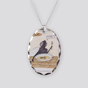 Man in the Soup Necklace Oval Charm