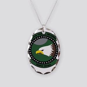 555th Fighter Squadron Necklace Oval Charm