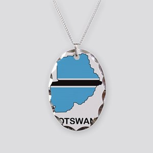 Botswana1 Necklace Oval Charm