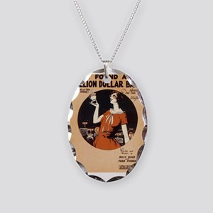MusicSheet Necklace Oval Charm