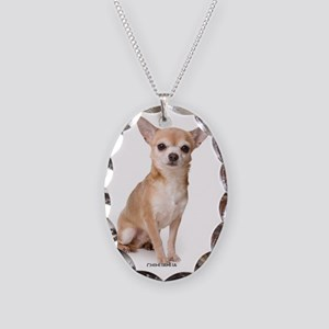 chihuahua311 Necklace Oval Charm