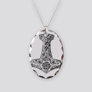 thors hammer Necklace Oval Charm