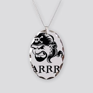 pirate Necklace Oval Charm