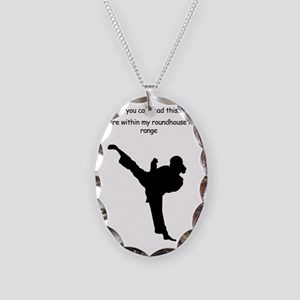 roundhouse kick Necklace Oval Charm