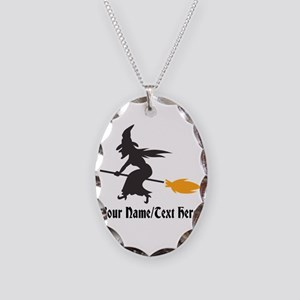 Custom Personalized Halloween Necklace Oval Charm
