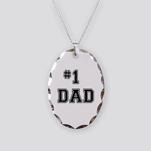 #1 Dad Necklace Oval Charm