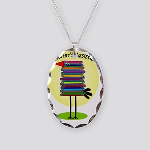 teacher assistant Necklace Oval Charm