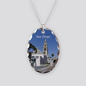 San Diego Necklace Oval Charm