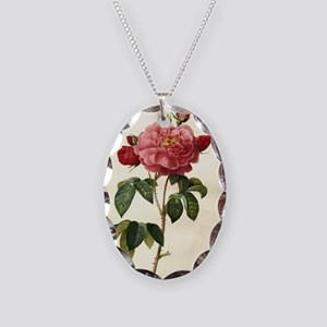 Rosa Gallica Necklace Oval Charm