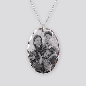 Add Your Photo Necklace Oval Charm