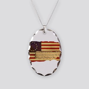 Old Glory Necklace Oval Charm