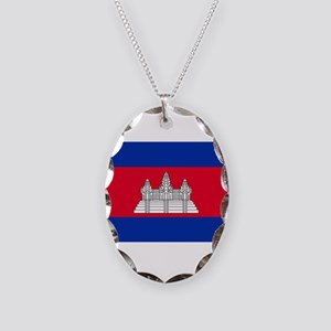 Cambodia Flag Necklace