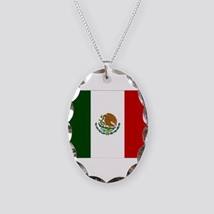 Mexico Flag Necklace Oval Charm