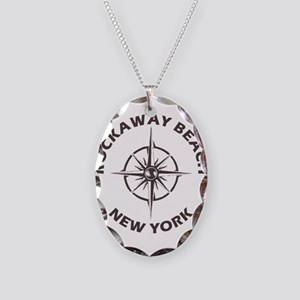 New York - Rockaway Beach Necklace Oval Charm