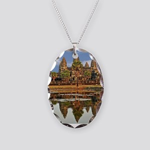 ANGKOR WAT Necklace Oval Charm