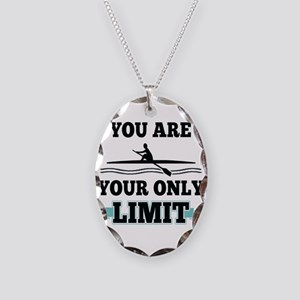 You Are Your Only Limit Necklace Oval Charm
