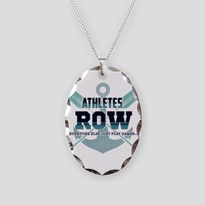 Athletes Row Everyone Else Jus Necklace Oval Charm