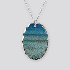Ocean001 Necklace Oval Charm