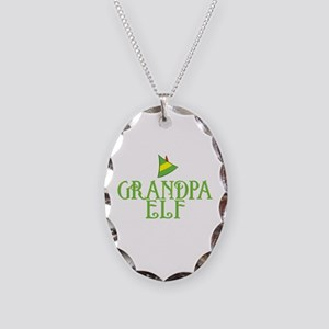 Grandpa Elf Necklace Oval Charm
