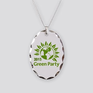 Green Party 2015 Necklace Oval Charm
