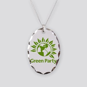 The Green Party Necklace Oval Charm