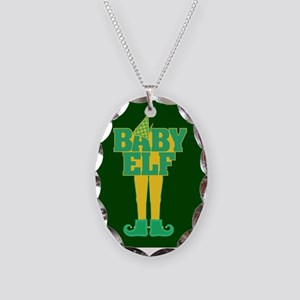Baby Elf Necklace Oval Charm