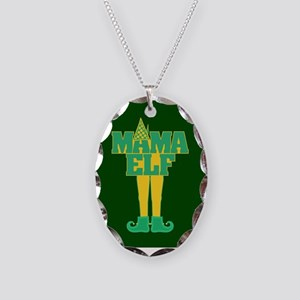 Mama Elf Necklace Oval Charm