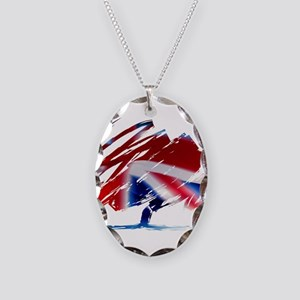 Conservative Party Necklace Oval Charm