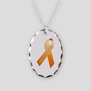 Agent Orange Education Necklace Oval Charm