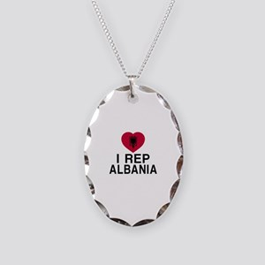 I Rep Albania Necklace Oval Charm