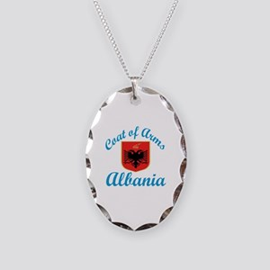 Coat Of Arms Albania Country D Necklace Oval Charm