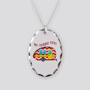 Rv There Yet? Necklace Oval Charm