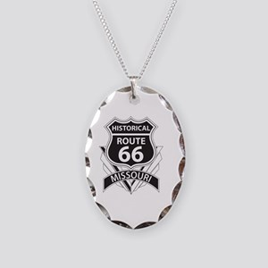 Historical Route 66 Missouri Necklace Oval Charm