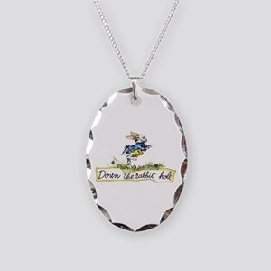 Down the Rabbit Hole Necklace Oval Charm