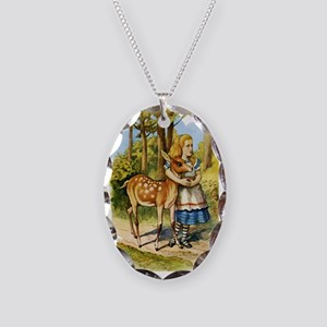 Alice and a Doe Necklace Oval Charm