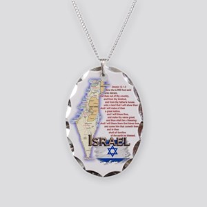 3-Israel Necklace Oval Charm