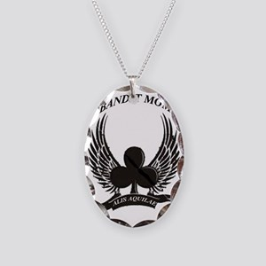 2-BANDIT MOM Necklace Oval Charm