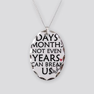 Days, Months - 10 inches Necklace Oval Charm