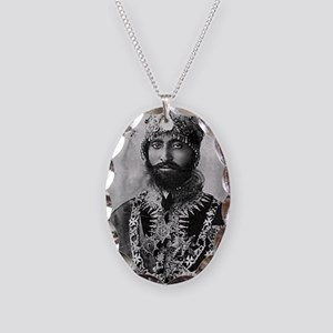 Haile Selassie I in official d Necklace Oval Charm