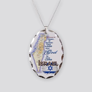 Israel deuteronomy 6 4 Necklace Oval Charm
