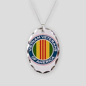 VVA Logo Necklace Oval Charm