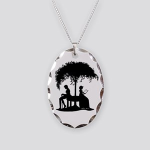 Jane Austen Darcy Gift Necklace Oval Charm