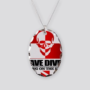 Cave Diver (Skull) Necklace Oval Charm